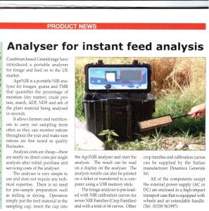 Agrinir™ Portable NIR feed analyzer